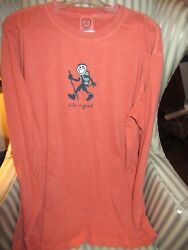 LIFE IS GOOD.ORIGINAL STYLE L S TEE quot;HIKE JAKEquot; FOR THE HIKER IN YOUR LIFE XL $32.99