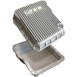 Ppe Low Profile Aluminum Transmission Pan Raw For 2001-2019 Gm 6.6l Duramax