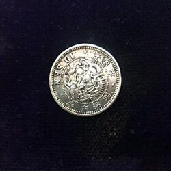 Used Japan Old Coin Money Taisho 1873 Silver Currency 10 Sen Antique Very Rare