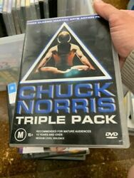 Chuck Norris Triple Pack Dvd, 2004, 3-disc Set, Rare Very Good Condition T63