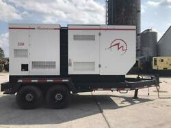 _330 KVA Magnum Generator Set Trailer Mounted Sound Attenuated Base Fuel Tank