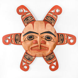 Northwest Coast Native Sun Design Wall Panel