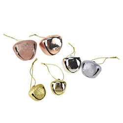 Glitter And Metallic Jingle Bell Ornaments, Rose Gold, Assorted Sizes, 39-piece