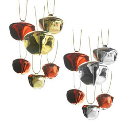 Metallic Holiday Jingle Bell Ornaments, Assorted Sizes, 39-piece