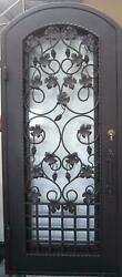Beautiful Estate Heavy Good R Rated Iron Entry Door With Safety Glass - S41