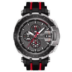 Tissot T-race Motogp 2015 Automatic Anthracite Dial Black And Red Rubber Band Me