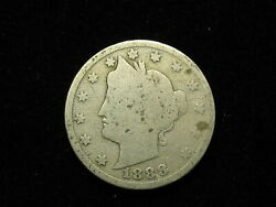 Old U.s. Semi Key Date 1888 Liberty V Nickel In Collectible Condition 212v