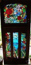 Australian Wildflowers Stained Glass Art Hand Crafted And Designed To Suit You.