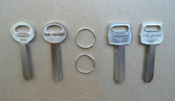 4 Key Blanks Fits 60and039s Andup Ford Mustang Fairlane Ltd Mach 1 Shelby F100 H50 H51