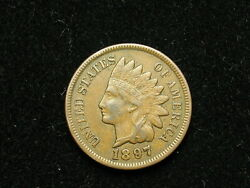 Beautiful Extra Fine 1897 Indian Head Cent Penny W/ Diamonds And Full Liberty 270v