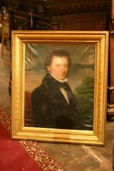 Old Master Museum Quality Oil On Canvas Painting Noble Man Signed W. Davenport