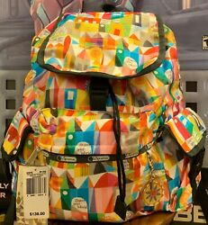 Lesportsac Disney Small World Magical Journey Le Voyager 2375 Backpack Nwt