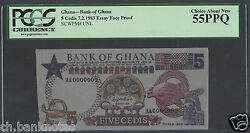 Ghana 5 Cedis 7-2-1983 Essay Face Proof Pick Unlisted About Uncirculated
