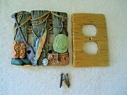 Fishing Themed Ceramic Electrical Light Switch And Outlet Covers Beautiful Set