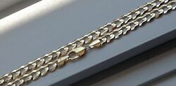 10k Solid Gold Menand039s Cuban Link Chain Necklace 9.5mm 20-36 Free Shipping