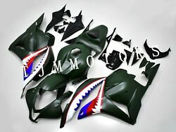 For Cbr600rr 09-12 Abs Injection Mold Bodywork Fairing Kit Plastic Army Green