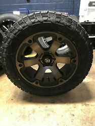 20 Fuel D564 Beast 285/55r20 At Wheel Tire Package 8x6.5 Dodge Ram 2500 3500