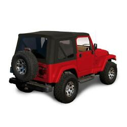 1997-2006 Jeep Wrangler Tj Soft Top Replacement And Tinted Windows Black Sailcloth