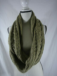 Michael Kors WOMENS SCARF INFINITY COWL Cable-Knit ONE SIZE CAMEL  TAN
