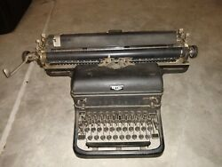Vintage Royal Typewriter Wide Carriage New York Touch Control Glass Keys
