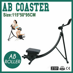 Ab Coaster Exercise Machine Folding Abdominal Trainer Crunch Muscle Equipment MY