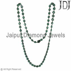 54.15 Ct Natural Emerald Diamond Necklace 36 925 Silver Special Wedding Jewelry