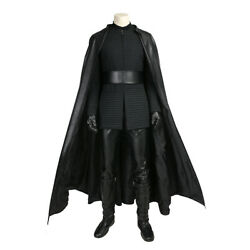 Men's Kylo Ren Robes Outfit Cosplay Costume Under Tunic Gloves Scarf Belt