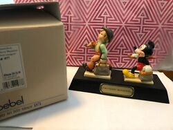 Rare Goebel Disney Mickey Mouse Two Merry Wanderer Signed And Box 161 Of 1500 Only