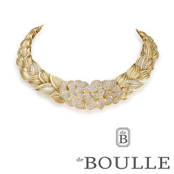 Yellow Gold & Diamond Floral Collar Necklace