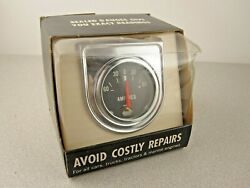 Vintage 1960and039s Nos Amperes Amps Gauge 363 Hot Rod Rat Muscle Car Universal 1966