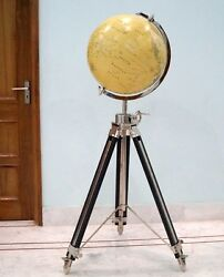 Collectibles Antique World Globe With Tripod Stand Home Decorative Gift Item