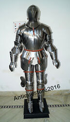 Medieval Wearable Knight Crusader Full Armor Suit Armor Costume W/ Silver Finish