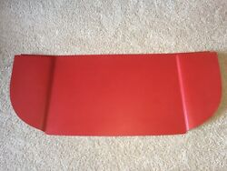 1960 Ford Starliner Rear Package Tray Molded In Red -- Brand New Product.
