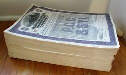 One-thousand 1945 Railroad Bonds Numbers 1-1000 - The Entire Issue - Pccstl