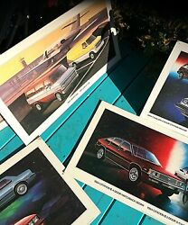 5 Vintage 1984 Chevrolet Chevy Cardboard Poster Signs Chevette Gasoline Oil Gas