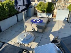 Solus 36 Halo Elevated Fire Pit-electronic Start Natural Gas Lava Andfire Rocks