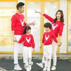 Deer Christmas Sweater Mommy Father Baby Family Matching Clothes Xmas Gifts USA