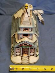 Lefton Snow Covered Electric Lighted Church 1987 Hand Painted 06333 Works