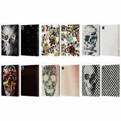 Official Ali Gulec Skull Leather Book Wallet Case For Apple Ipad