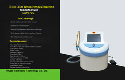 Portable Nd Yag Tattoo Removal Laser Carbon Peeling 755nm Pigment Removal Device