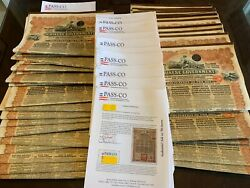 China 1913 Chinese Government 5 Reorg. Gold Loan Andpound20w/ Pass-co Report