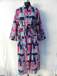 Gypsy Viscose Cotton Crossover Intimates Eveningwear Sleepwear Hippie Kimono 155