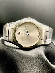 Movado Museum  Silver Dial Watch Stainless Steel 84 G1 1180 38 mm