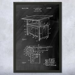 Framed Architect Drafting Table Print Structural Engineer Architect Gift