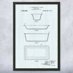 Framed Pyrex Glass Dishes Print Kitchen Decor Antique Dealer Collector Gifts
