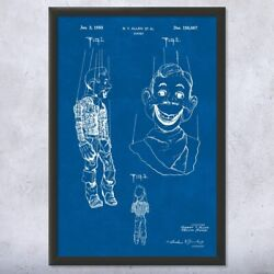 Framed Howdy Doody Puppet Print Howdy Doody Art Toy Collector Gift Puppet Design