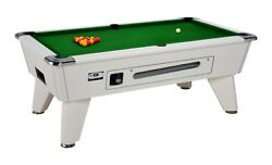 6ft And 7ft Omega Pro Slate Bed Pool Table Coin Op White Finish Free Delivery