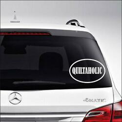 Quiltaholic Quilt Quilting Craft Car Truck Motorcycle Windows Bumper Wall Decor