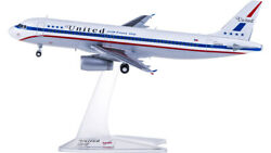 1200 Herpa United Airline A320 Friend Ship Passenger Airplane Abs Plastic Model