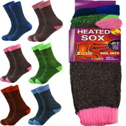 9 Pairs Women Winter Thermal Heated Warm Work Cushion Boots Crew Socks Size 9-11